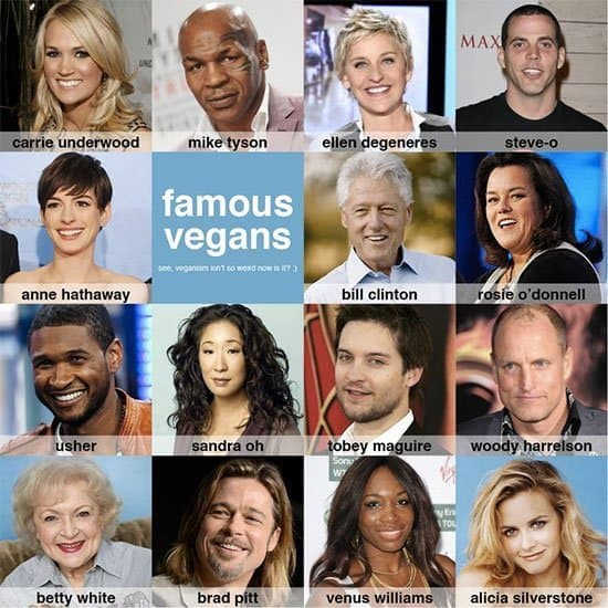 vegan celebrities
